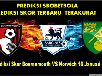 Prediksi Skor Bournemouth VS Norwich 16 Januari 2016
