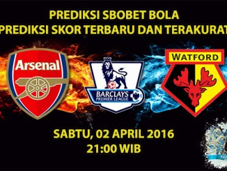 Prediksi Skor Arsenal VS Watford 02 April 2016