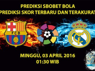 Prediksi Skor Barcelona VS Real Madrid 03 April 2016