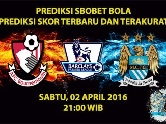 Prediksi Skor Bournemouth VS Manchester City 02 April 2016