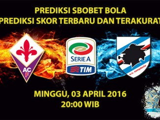 Prediksi Skor Fiorentina VS Sampdoria 03 April 2016