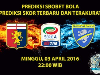 Prediksi skor Genoa VS Frosinone 03 April 2016