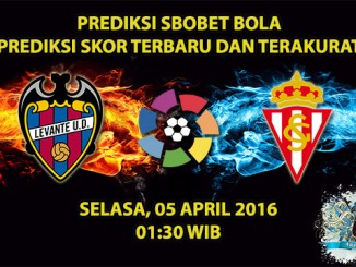 Prediksi Skor Levante VS Sporting Gijon 05 April 2016