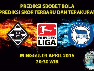 Prediksi Skor M'gladbach VS Hertha Berlin 03 April 2016
