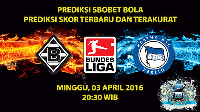 Prediksi pertandingan M'gladbach VS Hertha Berlin 03 April 2016