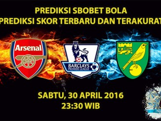 Prediksi Skor Arsenal VS Norwich 30 April 2016