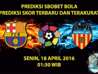 Prediksi Skor Barcelona VS Valencia 18 April 2016