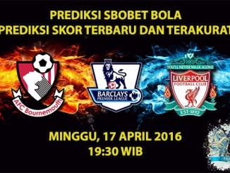 Prediksi Skor Bournemouth vs Liverpool 17 April 2016