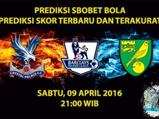 Prediksi Skor Crystal Palace VS Norwich 09 April 2016