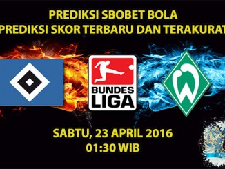 Prediksi Skor Hamburg VS Werder Bremen 23 April 2016