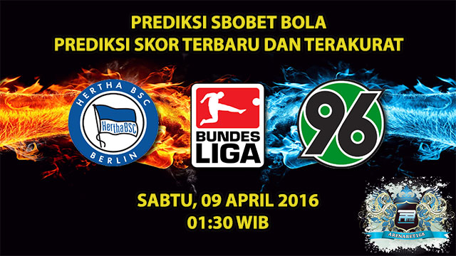 Prediksi Skor Hertha Berlin VS Hannover 09 April 2016