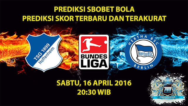 Prediksi Skor Hoffenheim VS Hertha Berlin 16 April 2016