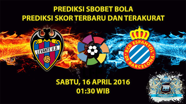 Prediksi Skor Levante VS Espanyol 16 April 2016