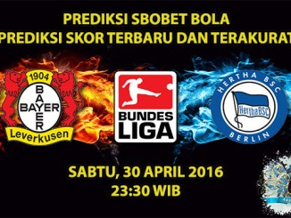 Prediksi Skor Leverkusen VS Hertha Berlin 30 April 2016