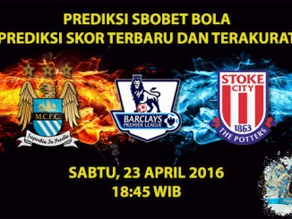 Prediksi Skor Manchester City VS Stoke 23 April 2016