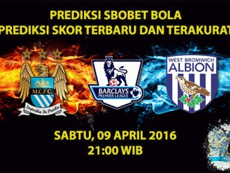 Prediksi Skor Manchester City VS West Brom 09 April 2016