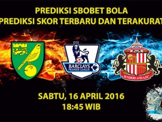 Prediksi Skor Norwich VS Sunderland 16 April 2016