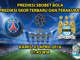 Prediksi Skor PSG VS Manchester City 07 April 2016
