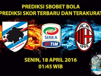 Prediksi Skor Sampdoria VS AC Milan 18 April 2016