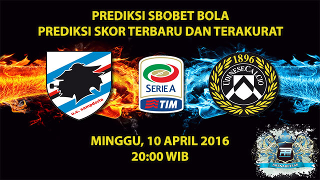 Prediksi Skor Sampdoria VS Udinese 10 April 2016
