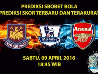 Prediksi Skor West Ham VS Arsenal 09 April 2016