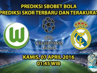 Prediksi Skor Wolfsburg VS Real Madrid 07 April 2016