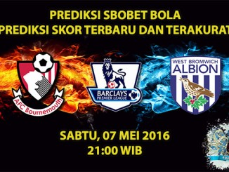 Prediksi Skor Bournemouth VS West Brom 07 Mei 2016