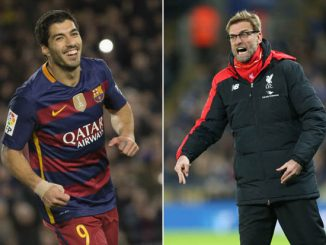 Luis Suarez and Jurgen klopp